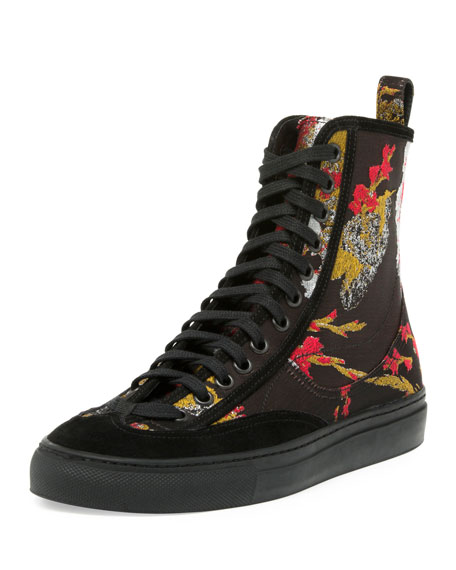 42724793a92 Dries Van Noten Embroidered High-Top Sneaker