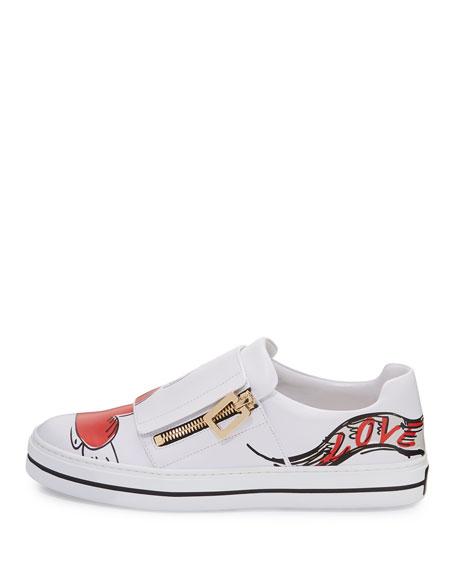 Sneaky Viv Love Tattoo Sneaker, White