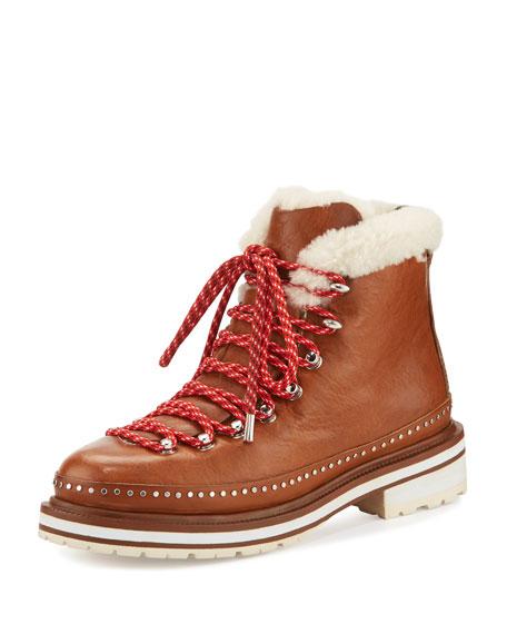 RAG&BONE Compass Shearling Leather Hiker Boots R8SExB