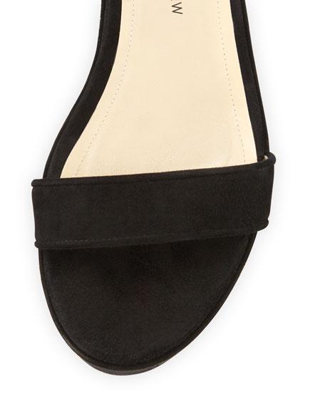 Leros Suede 20mm Platform Sandal, Black