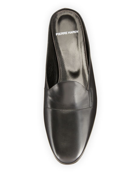 Jacno Leather Loafer Mule, Black