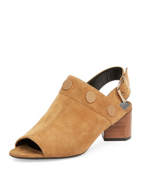 Penny Suede Slingback Sandal, Camel