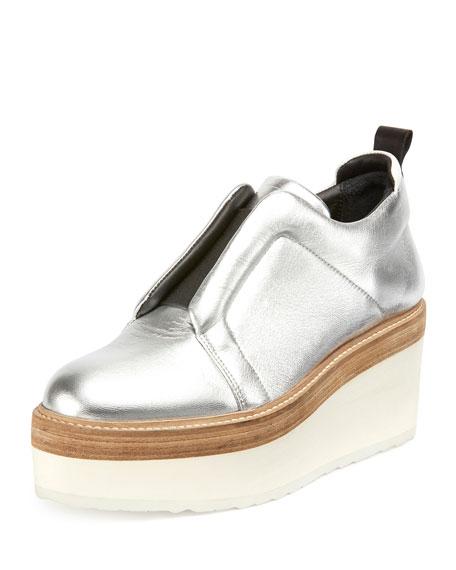 Mega Slider Derby Shoe, Silver
