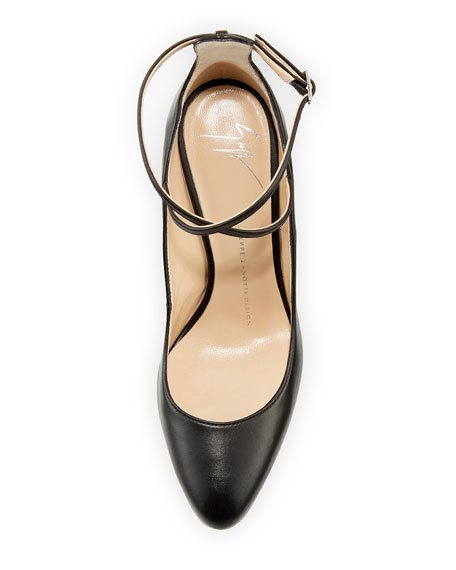 Leather Ankle-Strap 90mm Pump
