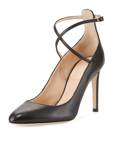 2015 new online free shipping latest collections Giuseppe Zanotti Leather Ankle-Strap Pumps cheap online shop discount factory outlet sale online store vjghE