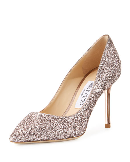 Jimmy Choo Romy Degrade Glitter 85mm Pump