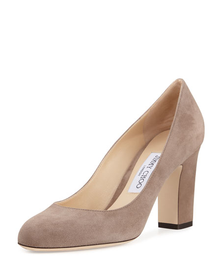 Billie Suede Block-Heel Pump