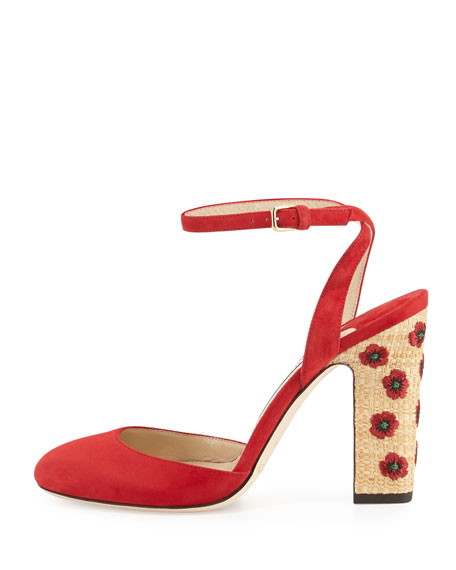 Alyssa Embroidered d'Orsay Sandal