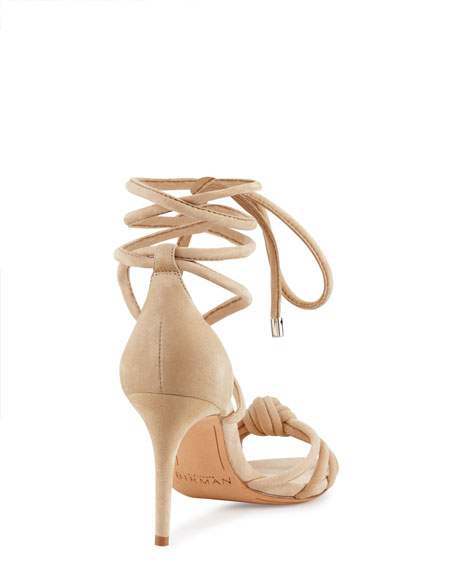 Lanna Knotted Suede 75mm Sandal
