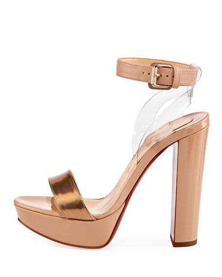 5df1db0d0d5 Cherry Patent Platform Red Sole Sandal