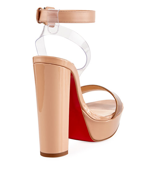 Cherry Patent Platform Red Sole Sandal