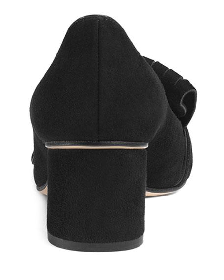 Marmont Fringe Suede 55mm Loafer, Black