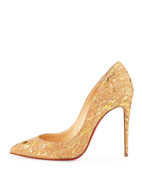 Pigalle Follies Cork 100mm Red Sole Pump
