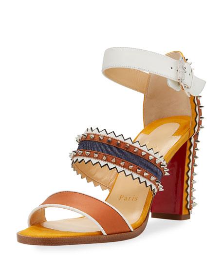 Montezumina Spiked 85mm Red Sole Sandal
