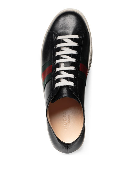 fca6dccd3c7 Gucci Peggy Leather Platform Sneaker