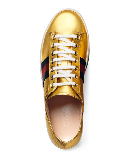 5a71c3fac398 Gucci Peggy Leather Platform Sneaker