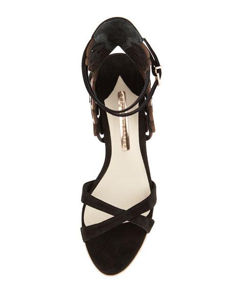 c0c8cb285a3 Sophia Webster Micah Metallic Angel-Wing Sandals
