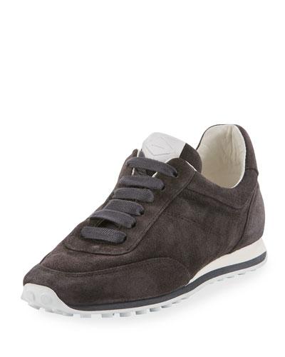 Dylan Suede Sneaker, Asphalt