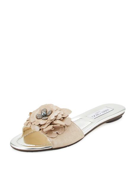 Jimmy Choo Neave Embellished Slide Sandals shop for sale Manchester huge surprise sale online for sale official site zzdrQCY