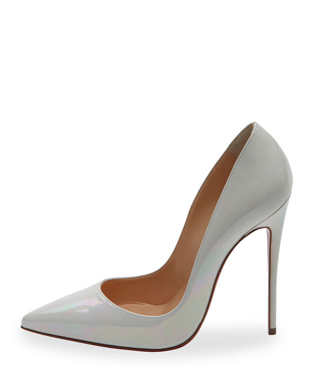 41596ff838f So Kate Patent 120mm Red Sole Pump White