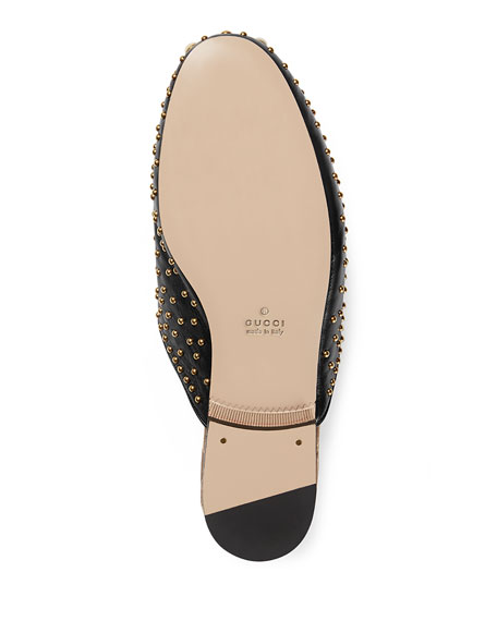 d6af0780adf Gucci Flat Princetown Studded Mule