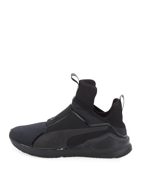 Fierce Quilted High-Top Sneaker, Black