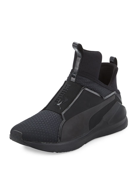 Fierce Quilted High-Top Sneaker, Black