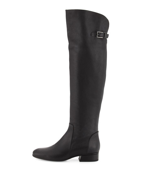 Lala Leather Over-the-Knee Boot, Black