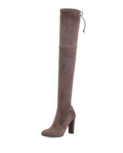 Highland Stretch-Suede Over-the-Knee Boot