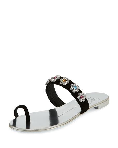 Giuseppe Zanotti Nuvorock Floral Slide Sandal