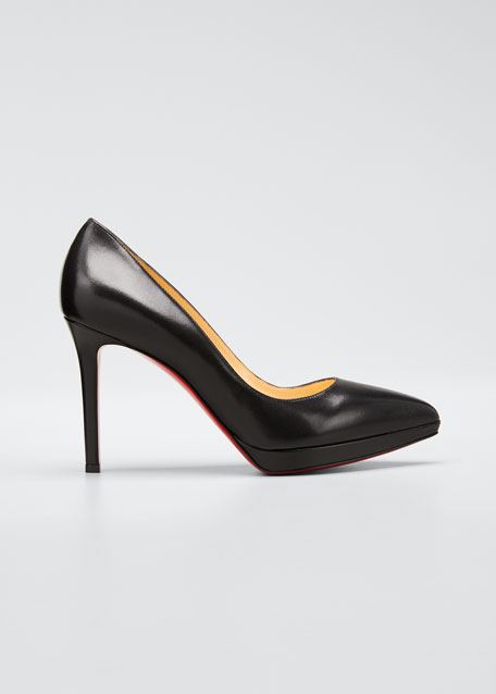 Christian Louboutin Pigalle Plato Leather Red Sole Pump,