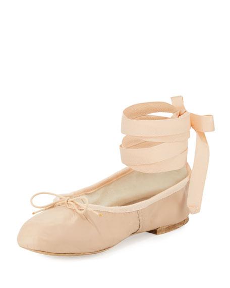 Street Ballerina Ankle-Wrap Flat, Pink