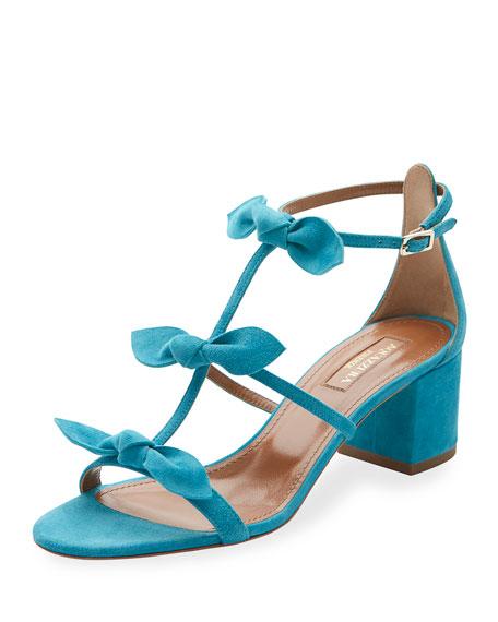St. Tropez Bow 50mm Sandal, Caribbean