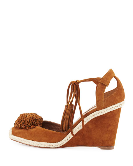 Sunshine Suede Wedge Espadrille