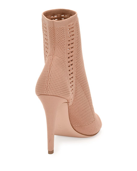 Vires Knit Open-Toe Bootie