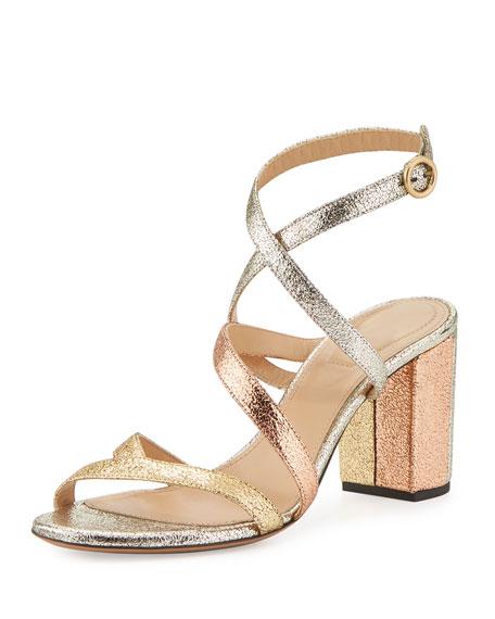 81d69ac8c3b Chloe Metallic Crisscross 70mm Sandal
