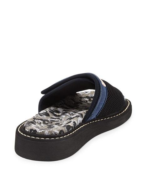 Mesh One-Band Slide Sandal