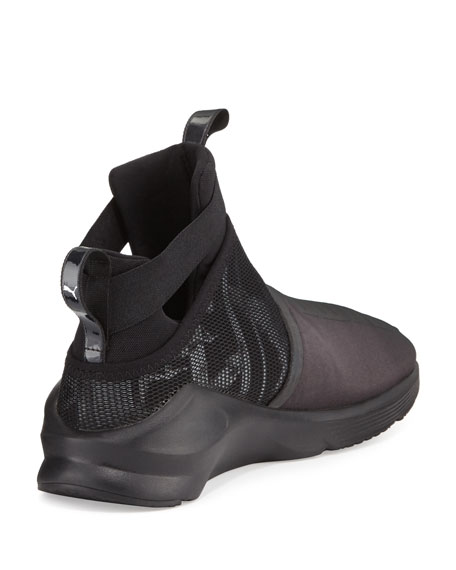 Fierce Knit High-Top Sneaker, Black