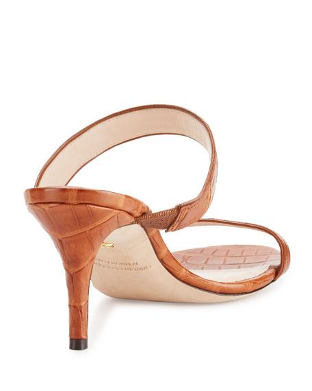 Maria Crocodile Mule Sandal