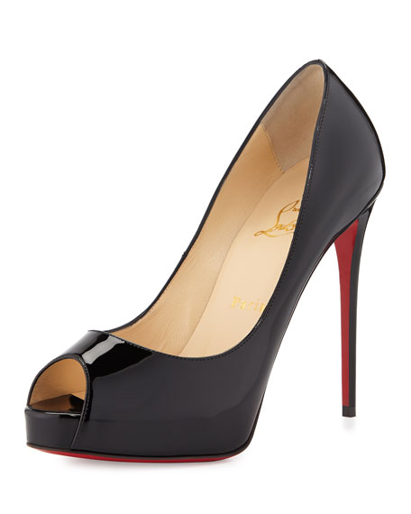 Christian Louboutin New Very Prive Peep-Toe Red Sole