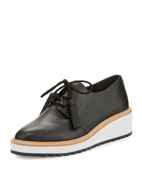 0b5ea4b7642 Callie Leather Demi-Wedge Oxford Black