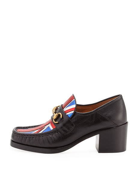 Vegas Union Jack Loafer Pump, Black