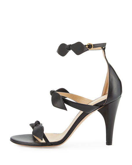 Naka Bow 100mm Sandal, Charcoal