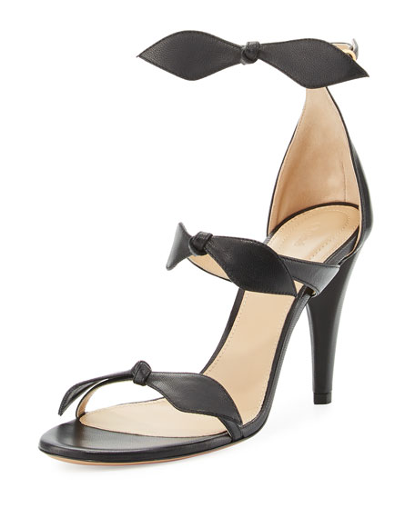Naka Bow 100mm Sandal, Charcoal