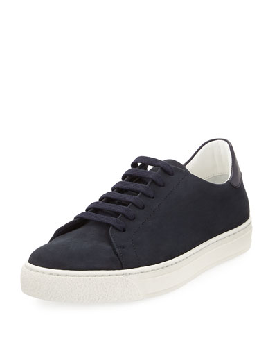 Wink Nubuck Leather Tennis Sneaker, Blue