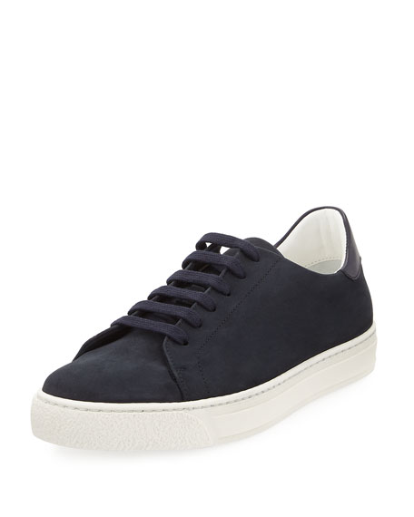 Anya Hindmarch Wink Nubuck Leather Tennis Sneaker, Blue