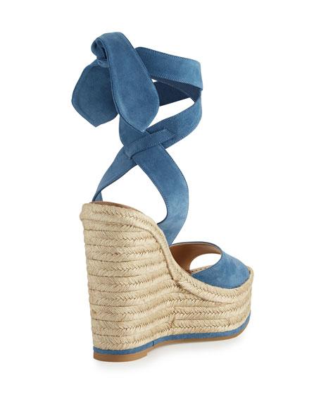 Lulea Suede Espadrille Wedge Sandal, Strindberg Blue
