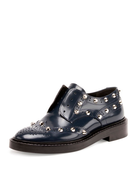 Balenciaga Studded Wing-Tip Derby Loafer