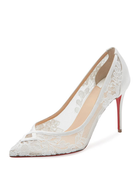 Christian Louboutin Neoalto Lace 85mm Red Sole Pump,