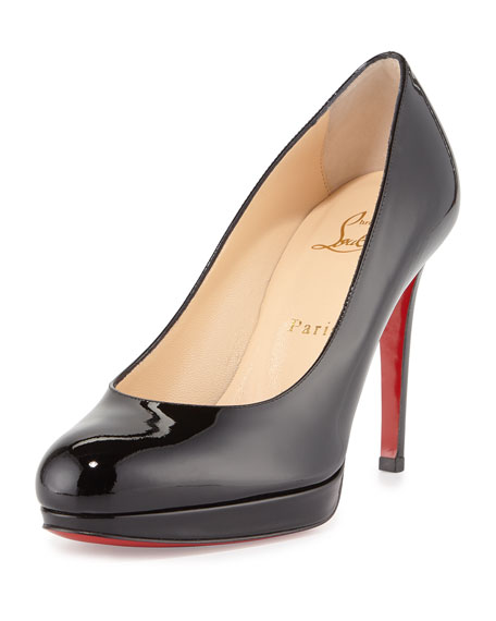 Simple Patent 100mm Red Sole Pump